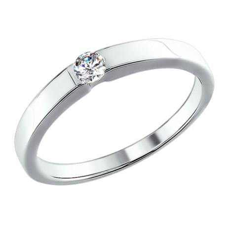 bbdc1a378bfe Обручальное кольцо из белого золота с бриллиантом — Ювелирный дом ...
