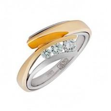Кольцо из золота 750 пробы с бриллиантами