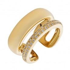 Кольцо из желтого золота 750 пробы с бриллиантами