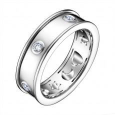 Кольцо из белого золота 750 пробы с бриллиантами