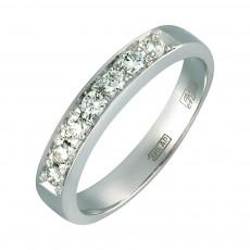 Кольцо из белого золота с дорожкой из 7 бриллиантов