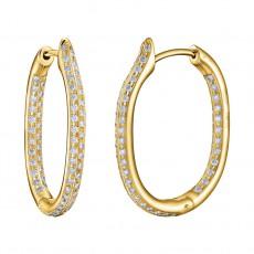 Серьги из золота 750 пробы с бриллиантами