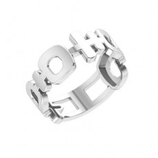 Кольцо из серебра 925 пробы без вставок