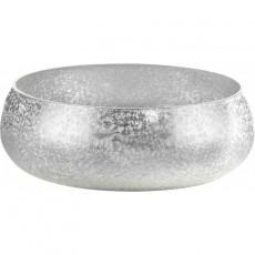 Чаша стеклянная Ambient (цвет серебро перламутр)
