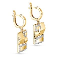Серьги из лимонного золота с бриллиантами