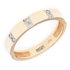 Обручальное кольцо с 10 бриллиантами