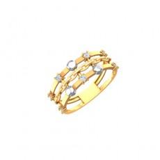 Кольцо из красного золота 585 пробы с фианитом