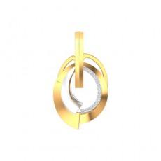 Подвеска из красного золота 585 пробы с фианитом