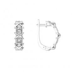Серьги из серебра 925 пробы с фианитом