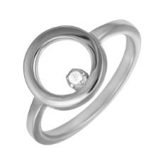 Кольцо из серебра 925 пробы c кубическим цирконием