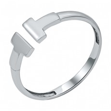 Кольцо из белого золота в стиле Геометрия