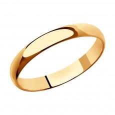 Классическое обручальное кольцо Sokolov, ширина 3 мм