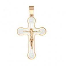 Крест из красного золота 585 пробы без вставок