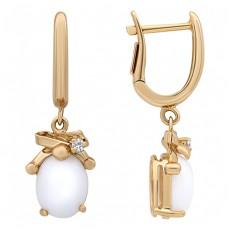 Золотые серьги с агатами и бриллиантами бренда Roberto Bravo