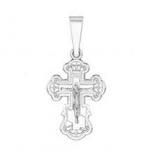 Крест из серебра 925 пробы без вставок