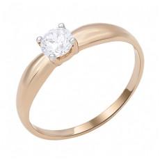 Золотое помолвочное кольцо с фианитом