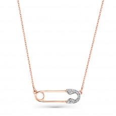 Золотое колье с бриллиантами Булавка