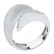 Золотое кольцо с цирконами бренда Roberto Bravo