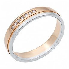Золотое обручальное кольцо с 7 бриллиантами