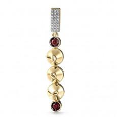Подвеска из желтого золота с бриллиантами и топазами