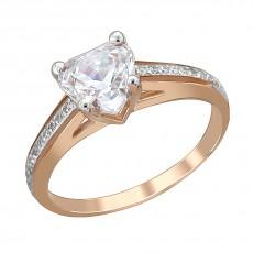 Золотое кольцо с фианитом Swarovski