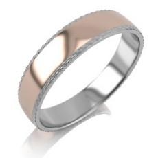 Обручальное кольцо унисекс из комбинированного золота