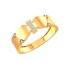 Золотое кольцо с фианитами из коллекции осень-зима 2019/2020