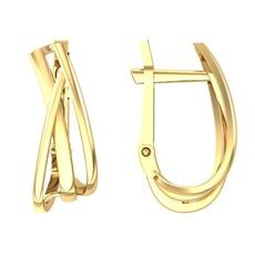 Золотые серьги без вставок
