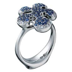 Кольцо с сапфирами и бриллиантами, коллекция Free forms