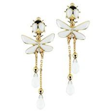 Золотые серьги с бриллиантами и агатами бренда Roberto Bravo
