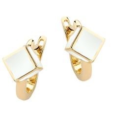 Золотые серьги с эмалью бренда Roberto Bravo