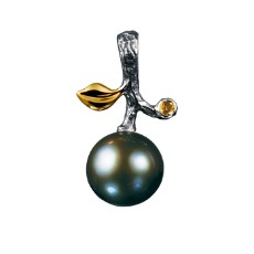 Подвеска с черным жемчугом и бриллиантами, коллекция Eden