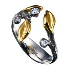 Кольцо из белого золота с бриллиантами, коллекция Eden