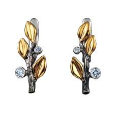 Серьги из белого золота с бриллиантами, коллекция Eden