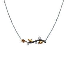 Золотое колье с бриллиантами, коллекция Eden