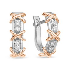 Золотые серьги с бриллиантами
