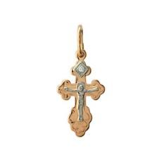 Золотой крест с бриллиантом