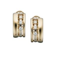 Серьги из желтого золота 585 пробы, украшенные бриллиантами