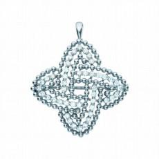 Брошь из белого золота 585 пробы, украшенная бриллиантами
