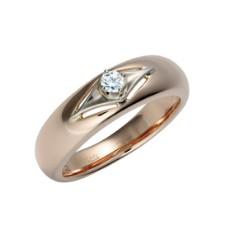 Кольцо из красного золота 585 пробы, украшенное бриллиантами