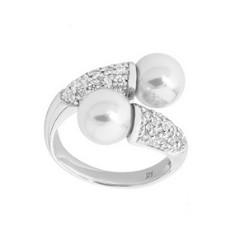 Кольцо Majorica из серебра 925 пробы с жемчугом
