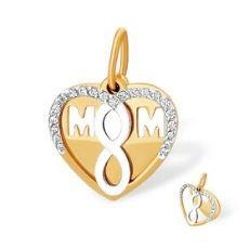 Подвеска из красного золота с фианитами: Бесконечность, мать и дитя