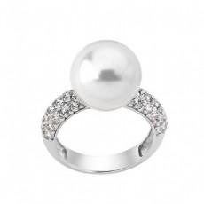 Серебряное кольцо с жемчугом Майорика