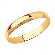 Обручальное кольцо из красного золота Sokolov 4 мм