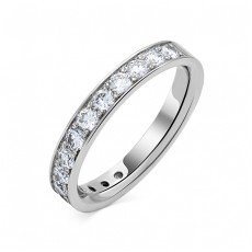 Обручальное кольцо из белого золота с 15 бриллиантами
