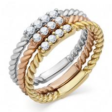 Набор из трех серебряных колец бренда MADDE