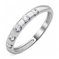 Кольцо из белого золота с 5 бриллиантами