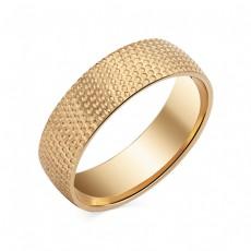 Обручальное кольцо с рельефной поверхностью