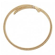 Браслет Змейка из лимонного золота с бриллиантами