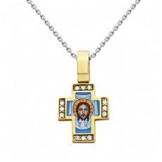 Золотой крест с эмалью и бриллиантами